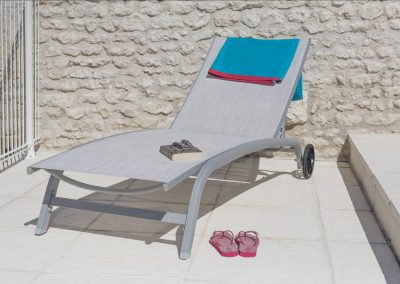 Pool sunlounger